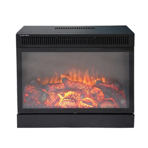 Remote Electric Fireplace by Electric Fireplace 1500w 23 Quot Black Embedded Insert Remote 215sqft Tc Tc 0101502x