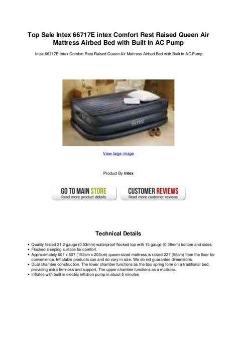 top sale intex   intex comfort rest raised queen air