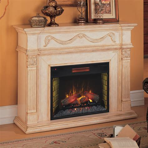 gossamer 55in infrared electric fireplace mantel 28wm184