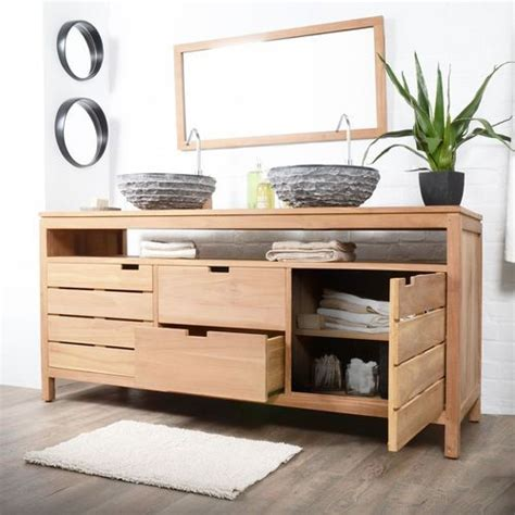 Spécialiste Baignoire pour acheter votre meuble salle de bain en teck serena
