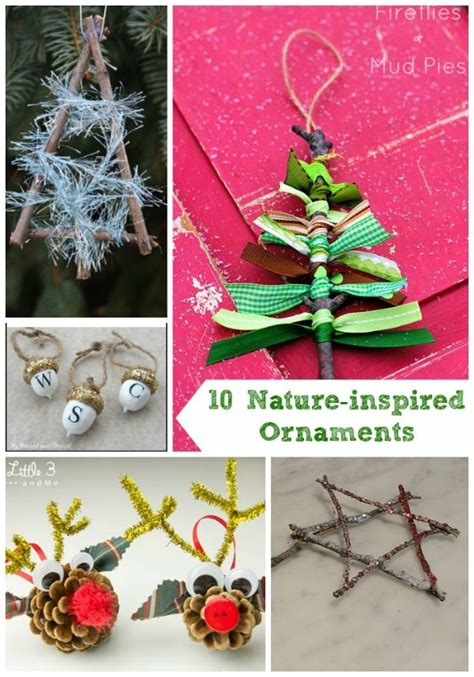 20 nature inspired holiday projects craft decorations