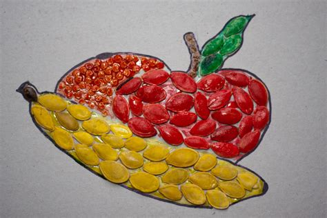 how seed are made grain mosaic crafts