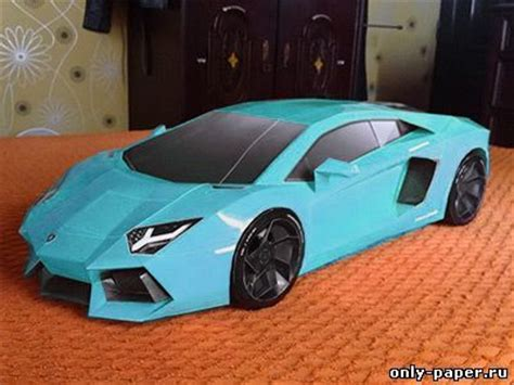 How To Make A Paper Lamborghini - lamborghini aventador papercraft paper model free