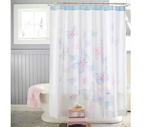 butterfly shower curtain butterfly shower curtain pottery barn kids