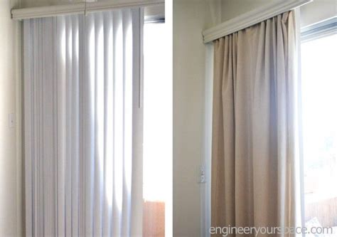 how to hang window treatments how to conceal vertical blinds with curtains no tools or