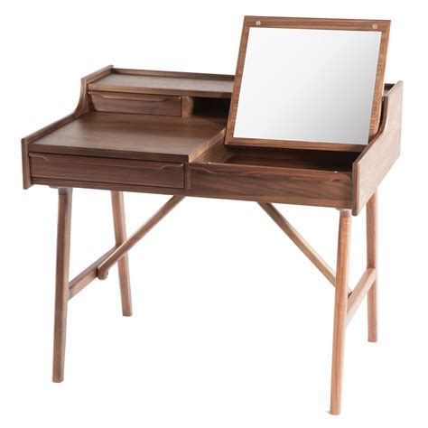 vanity desk dcor design vanity desk with mirror wayfair