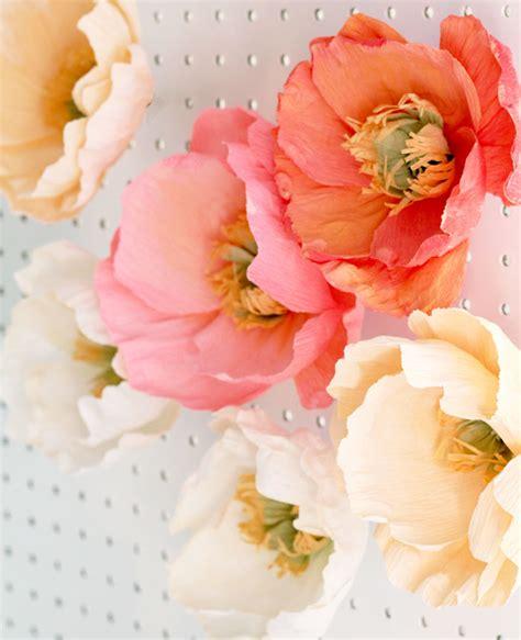 Beautiful Paper Flowers - fresh cut paper flowers poppies