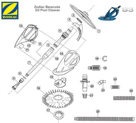 baracuda g3 parts diagram baracuda g3 parts list zodiac baracuda g3 parts poolzoom