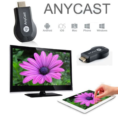 anycast wifi miracast dongle adapter dlna hdmi tv airplay
