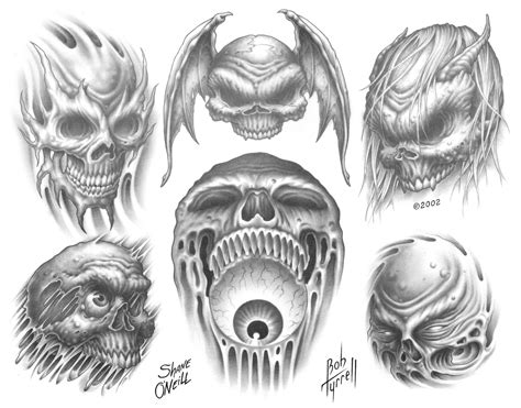 skull and demon tattoo designs tattoos and designs page 161
