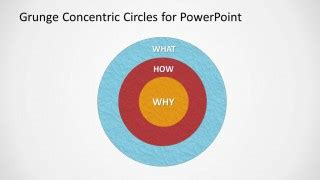 Grunge Concentric Circles For Powerpoint Slidemodel How To Make Concentric Circles In Powerpoint