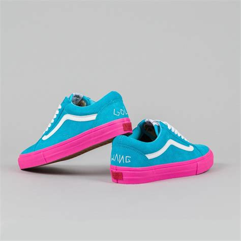 vans syndicate skool pro s golf wang blue pink flatspot