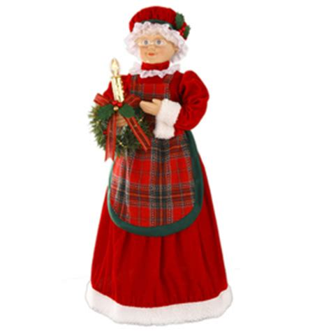 3 ft animatedmrsclaus shop living 28 quot animated mrs claus at lowes