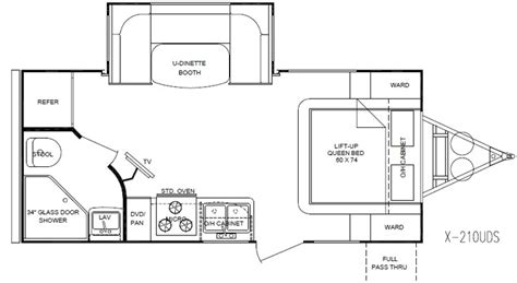fun finder floor plans fun finder x 210uds rv dreams pinterest