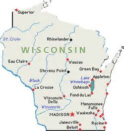 Map of wisconsin home of a lot brewers and our next brewery hop