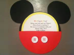 and the pauper diy mickey mouse invitations and