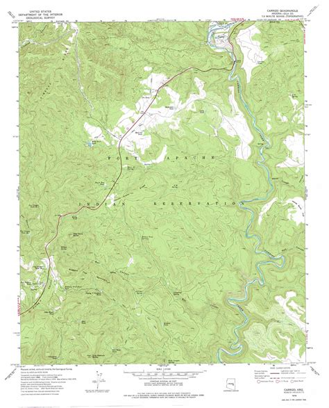 usgs topographic maps carrizo topographic map az usgs topo 33110h3