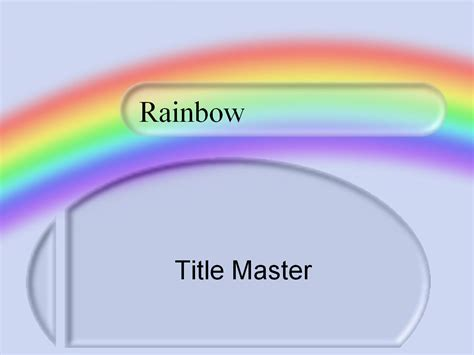 powerpoint templates free rainbow images powerpoint