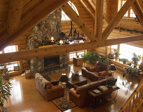 Log Home Interiors Log Home Interior Small House Plans Modern