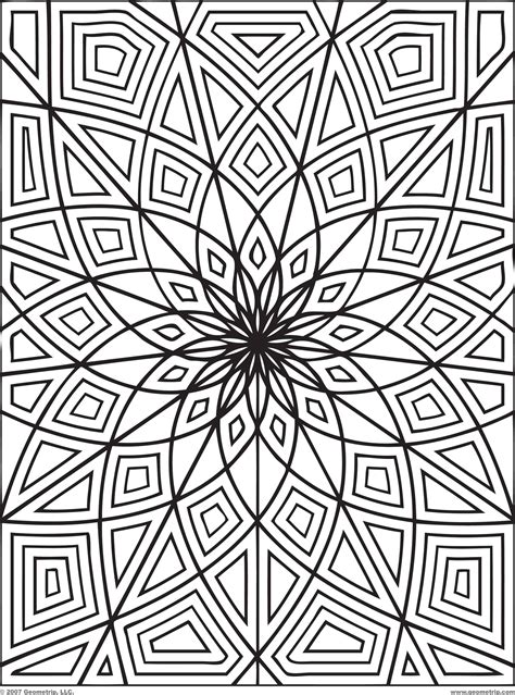 Free Printable Coloring Pages Geometric 2015 Geometric Coloring Pages Free