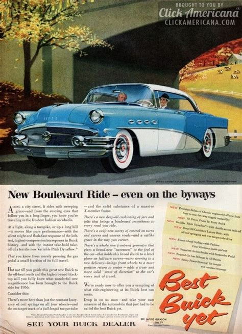 Boulevard Buick Buick S New Boulevard Ride For 1956 Buick