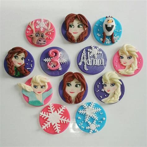 frozen fondant edible inspired theme cupcake toppers frozen fondant and fondant