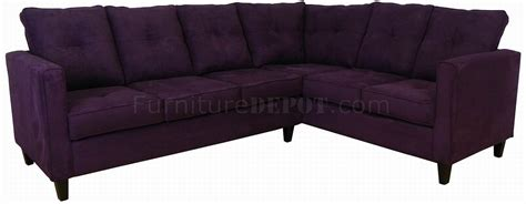 eggplant fabric modern sectional sofa w wooden legs