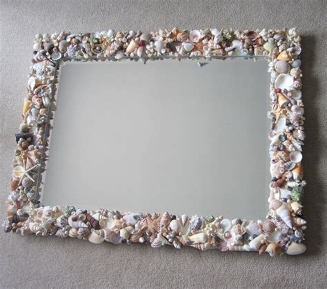 shell bathroom mirror seashell mirrors for beach decor nautical decor shell