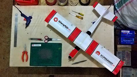 membuat pesawat quadcopter tutorial membuat pesawat rc simple cessna ws 75cm gilangajip