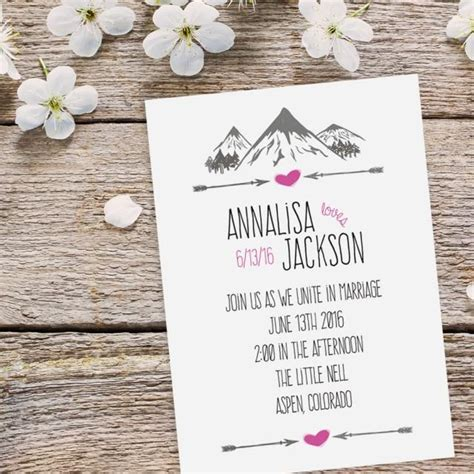 Hip Wedding Invitation Wording by Mountain Wedding Invitation Suite Features Hip And Rustic