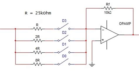 resistor ladder diagram r 2r dac resistor ladder r wiring diagram and circuit schematic