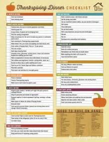 thanksgiving dinner checklist