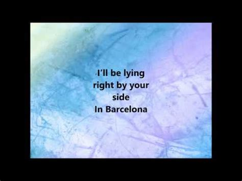 barcelona george ezra lyrics george ezra barcelona lyrics youtube