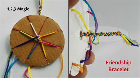 friendship bracelet   cardboard loom youtube