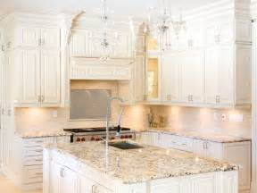 Kitchen With White Cabinets Best Inspiration White Kitchen Cabinets Granite Countertops Decosee