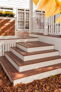 decks com building box steps and stairs for decks