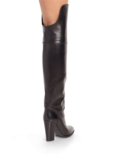 ralph leather boots lyst ralph collection harrah leather overtheknee
