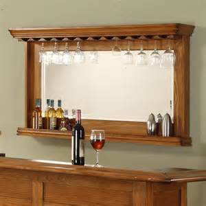 bar mirrors with shelves burnished oak back bar mirror at hayneedle