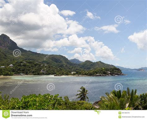 Sychelle Lovely beautiful seascape in the seychelles stock image image 63146479