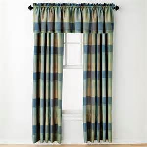 Plaid Curtain Valances United Curtain Co Blue Plaid Window Treatments
