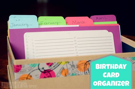 Birthday Card Organizer How To Make A Birthday Card Organizer And Card Box