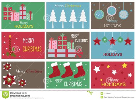 christmas gift cards stock photo image
