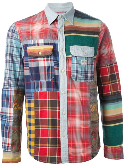 Patchwork Shirts - ralph patchwork shirt for lyst