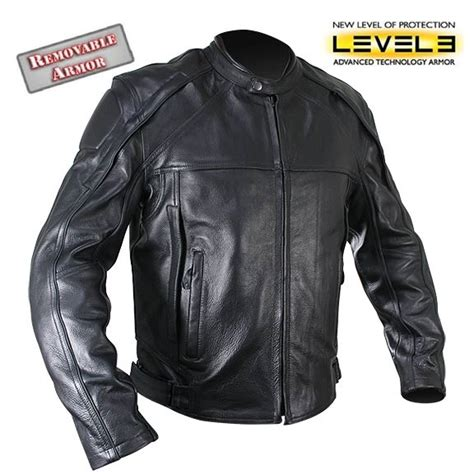 motorcycle jackets for with armor black leather motorcycle jacket with armor