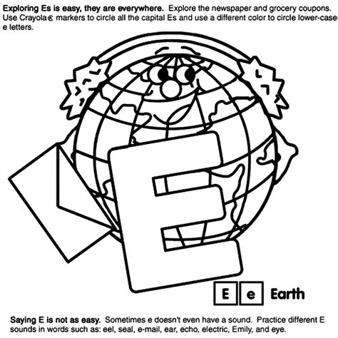 Alphabet E Crayola Co Uk Crayola Codes For Coloring Pages