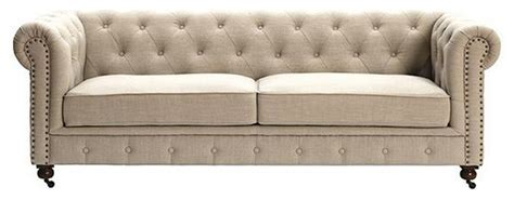 home decorators tufted sofa tufted chesterfield sofa natural linen traditional