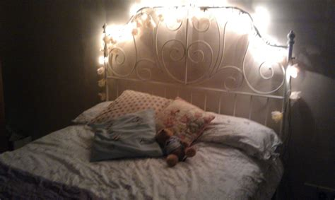 headboard fairy lights bed with fairy light headboard check for the home