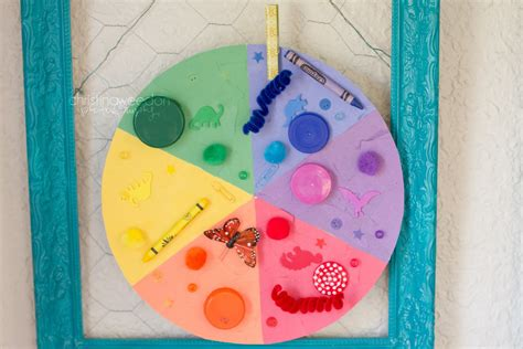 color craft for dandelions on the wall homeschool the letter c crafts