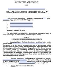 small business operating agreement template free alabama llc operating agreement template pdf word