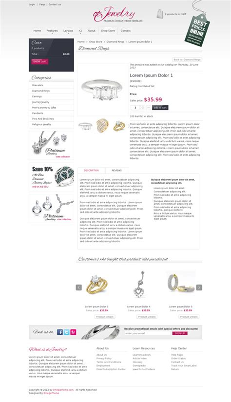 joomla themes store ot jewelry jewelry store joomla template omegatheme com